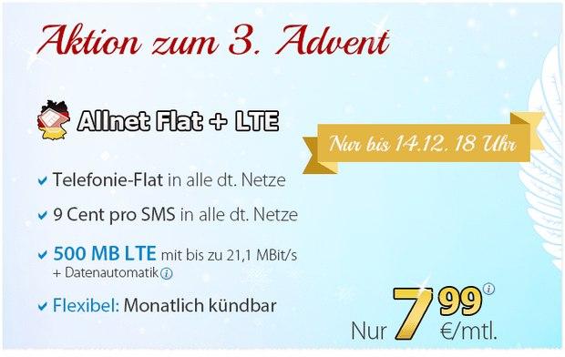 DeutschlandSIM Allnet-Flat + LTE für 7,99 €
