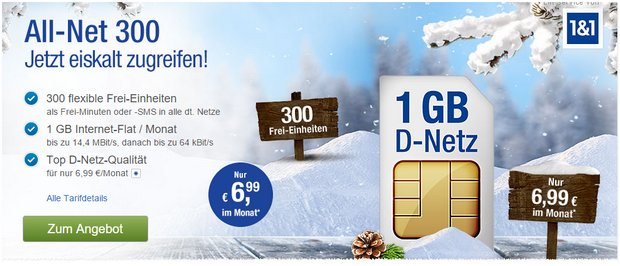 GMX-Handyvertrag Allnet 300