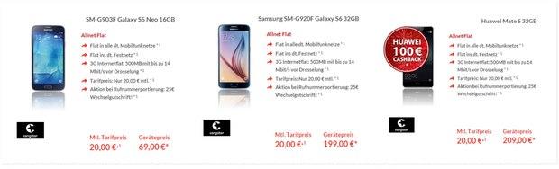 congstar Allnet-Flat Handyvertrag für 20 €