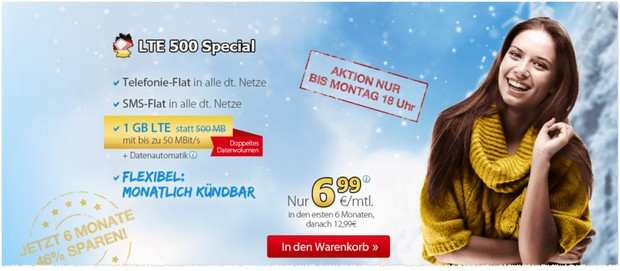 DeutschlandSIM Allnet-Flat als Special