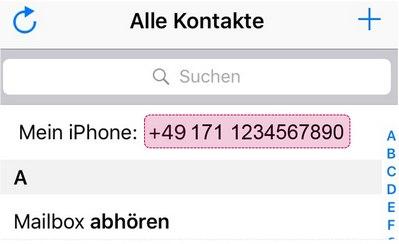 Eigene Handynummer beim iPhone anzeigen