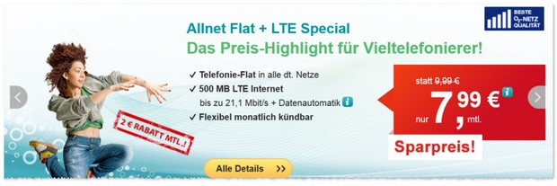 HelloMobil Allnet-Flat + LTE Special