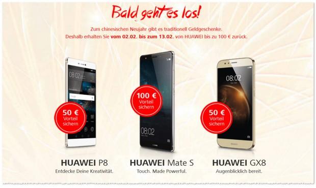 Huawei Cashback Aktion