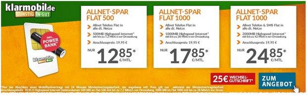 Klarmobil D1-Allnet-Flat-Angebot bei Preisboerse24