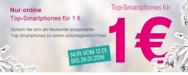 Magenta Mobil S mit Handy für 1 € - Top-Smartphone-Aktion bis 24.1.2016