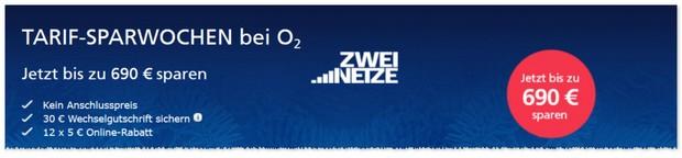 o2 Werbung mit Sparwochen