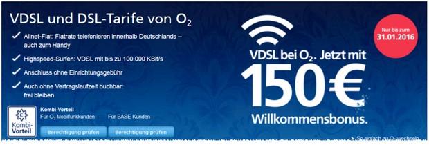 o2 Willkommensbonus