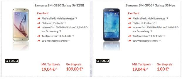 otelo Fan-Tarif für 19,04 € als Schalke-Flat inkl. Smartphone
