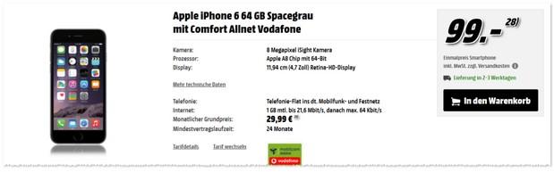 Vodafone comfort Allnet (md) Tarif mit Handy