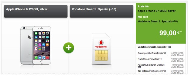 Vodafone Smart L Handyvertrag