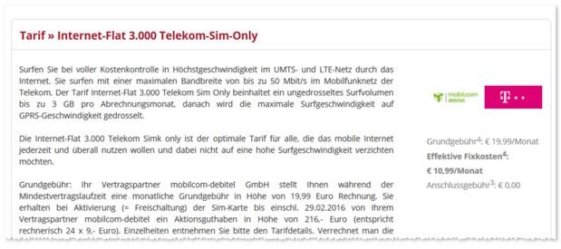3GB D1 Internet-Flat 3.000