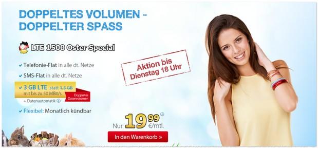 Oster-Special für den DeutschlandSIM LTE 1500