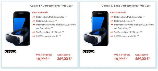 Eintracht Tarif mit Samsung Galaxy S7