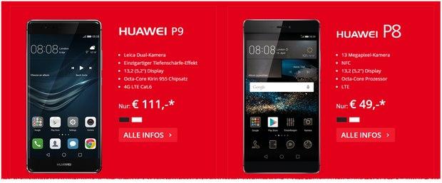 FC Köln Tarif mit Huawei P9