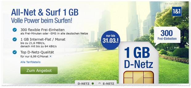 GMX Handytarif All-Net & Surf
