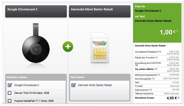 Klarmobil Allnet Flat Starter + Prämie