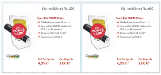 Klarmobil Smart Flat in bester D-Netz-Qualität