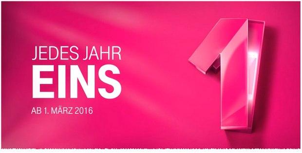 Jedes Jahr EINS: Mit Magenta Mobil Happy bekommt ihr alle 12 Monate ein neues Handy oder Smartphone - der Tarif kann ab 1.3.2016 aufgebucht werden