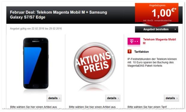 Telekom Magenta Mobil M als Samsung Galaxy S7 Vertrag