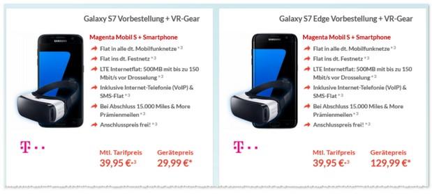 Telekom Magenta Mobil S + Samsung Galaxy S7