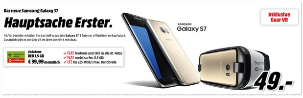 Media Markt Handytarif Vodafone Red (md) + Samsung Galaxy S7