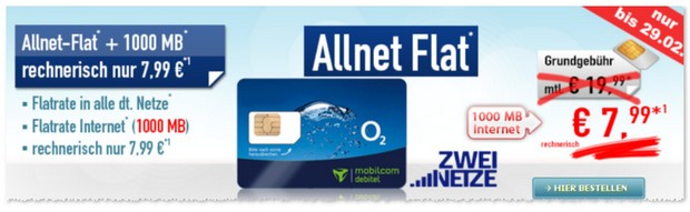 o2 Comfort Allnet mit Auszahlung bei Handybude