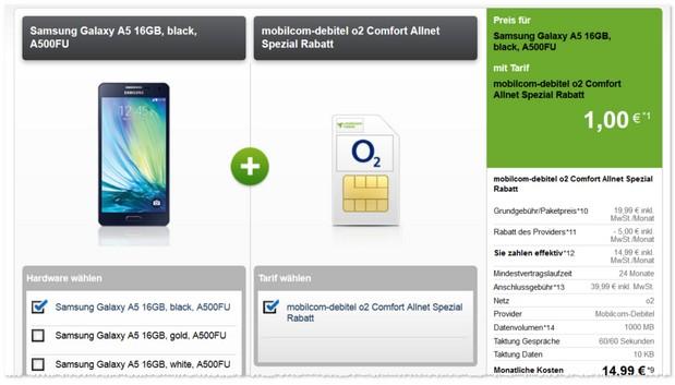 O2 comfort Allnet + Handy nur 14,99 € im Monat