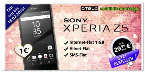 otelo Allnet Flat XL mit Sony Xperia Z5 Handy bei mobildiscounter.de