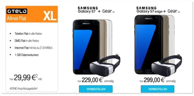 otelo XL Vertrag + Samsung Galaxy S7 / edge