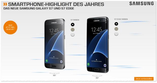 Samsung Galaxy S7 mit Vertrag