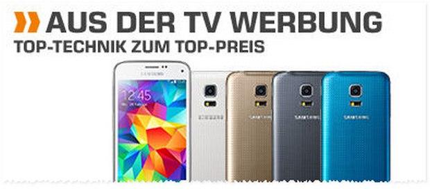 Saturn Angebot aus der TV-Werbung: Samsung Galaxy S5 mini für 199 €