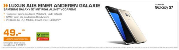 Saturn Handyvertrag mit Samsung Galaxy S7