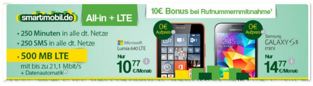 Smartmobil All-in + LTE Handyvertrag