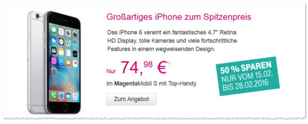Telekom 50% Werbung