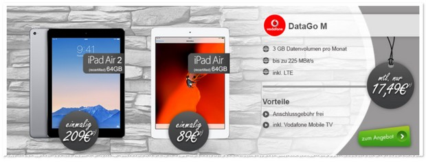 Vodafone Data Go M + Tablet