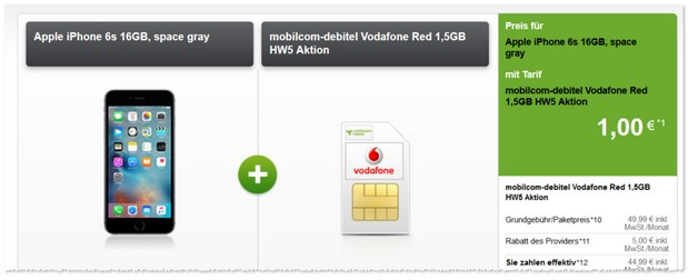 Vodafone Red (md) Handyvertrag