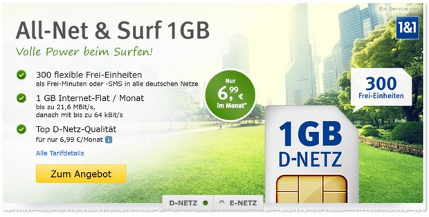 WEB.DE Handytarif All-Net & Surf von 1&1