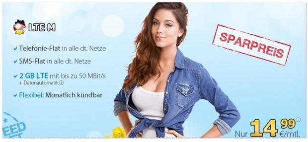 DeutschlandSIM LTE M Aktionstarif