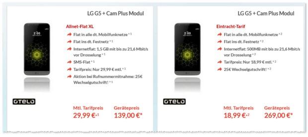 Eintracht-Tarif als LG G5 Vertrag