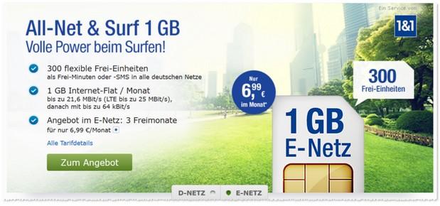 GMX Allnet & Surf Tarif im E-Plus-Netz
