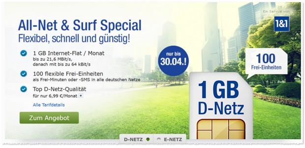 GMX Handytarife (All-Net & Surf Special)