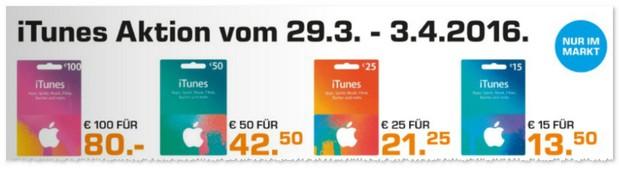 iTunes Rabatt im Saturn Prospekt
