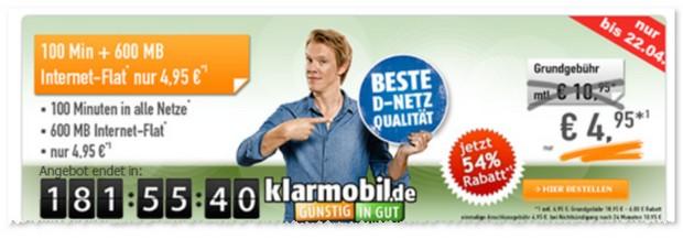 Klarmobil Smart Flat mit 600 MB