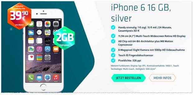 simfinity Flat als iPhone 6 Vertrag