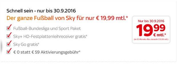 Sky Angebot 2016