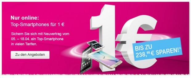 Telekom-Werbung: Top-Smartphones für 1 Euro Zuzahlung