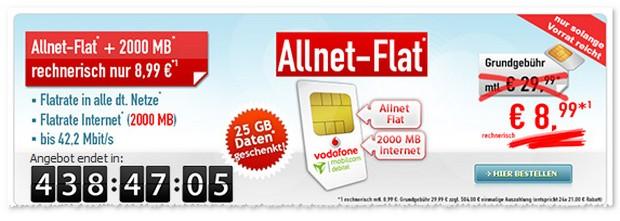 Vodafone comfort Allnet Vertragsangebot bei Handybude