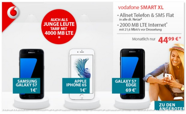Vodafone Smart XL als iPhone 6s Vertrag