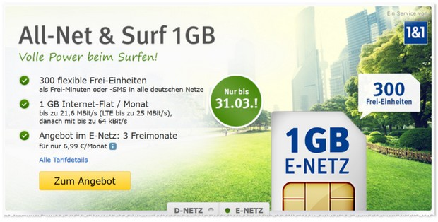 WEB.DE All-Net & Surf im E-Plus-Netz