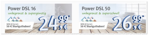 WEB.DE Power DSL Tarife